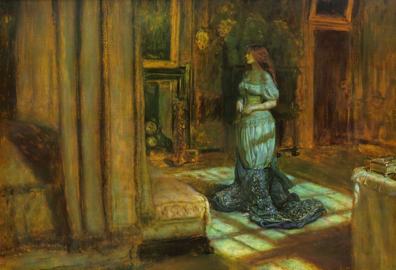 1280px-Madeleine_undressing_–_Eve_of_St_Agnes,_John_Everett_Millais.jpg