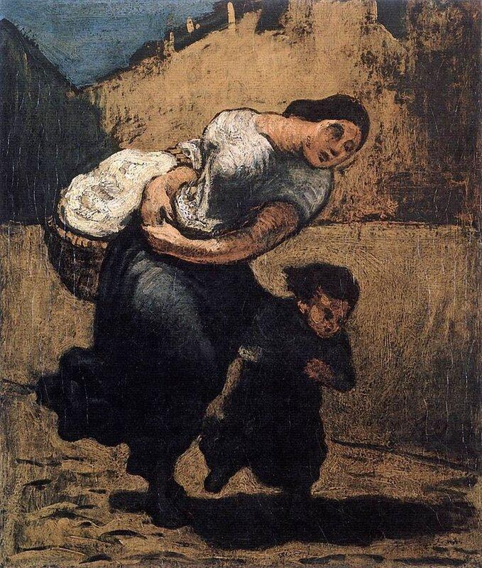 8e1b2d6ed3dbb9c58ae99b1412eb42f3 Honoré Daumier, The Heavy Burden, circa 1850,.jpg