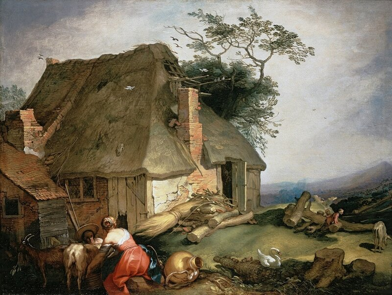 Abraham-Bloemaert-A-cottage-with-peasants-milking-goats.jpg