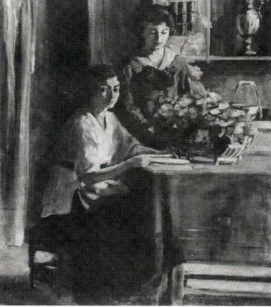 andjelija lazarevic enterijer 1919 ulje na platnu 62x76.jpg