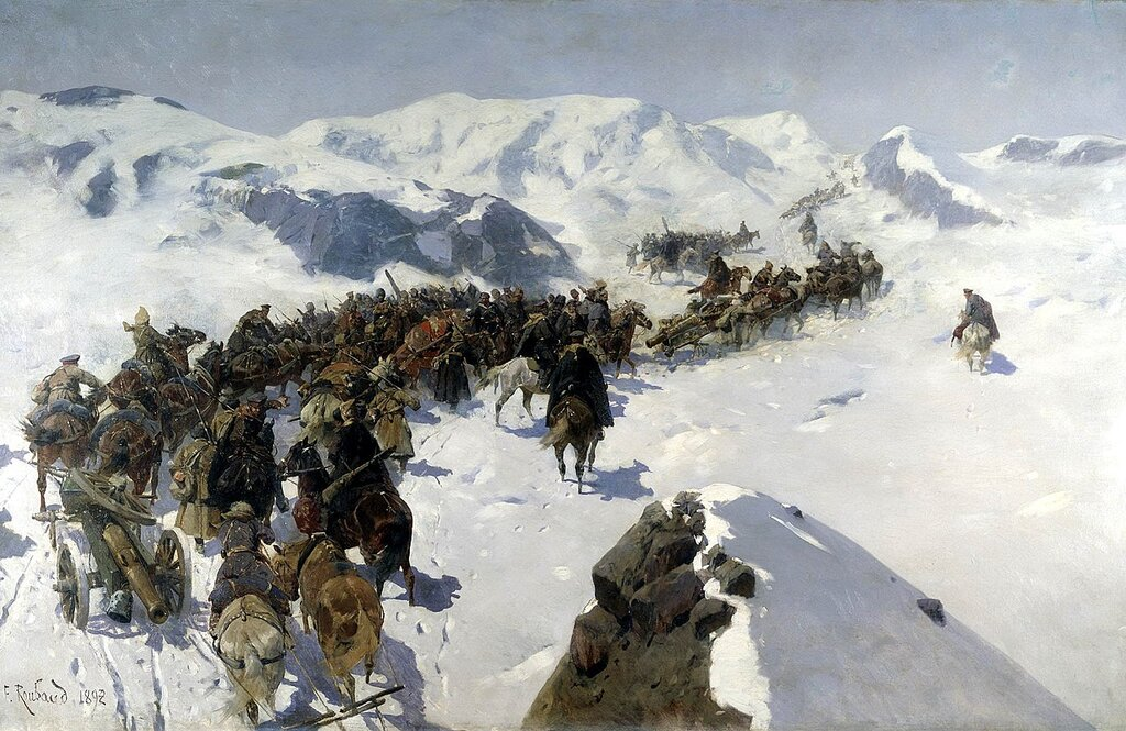 Franz_Roubaud._Count_Argutinsky_crossing_the_Caucasian_range._1892.jpg