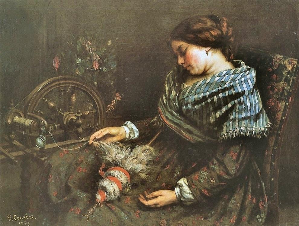 Gustave COURBET (1819-1877) The Sleeping Spinner - Catherine La Rose.jpg