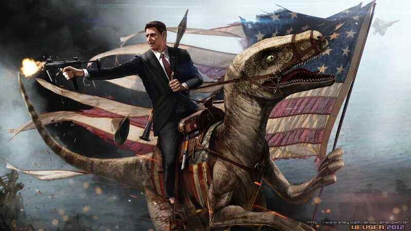 Ronald Regan jase Velocireptora i reseta komunjare.jpg