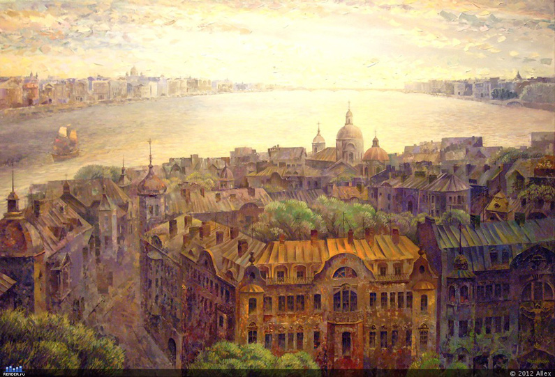 VM_cityscapes94Alexey Fedorov, City (oil on canvas).jpg