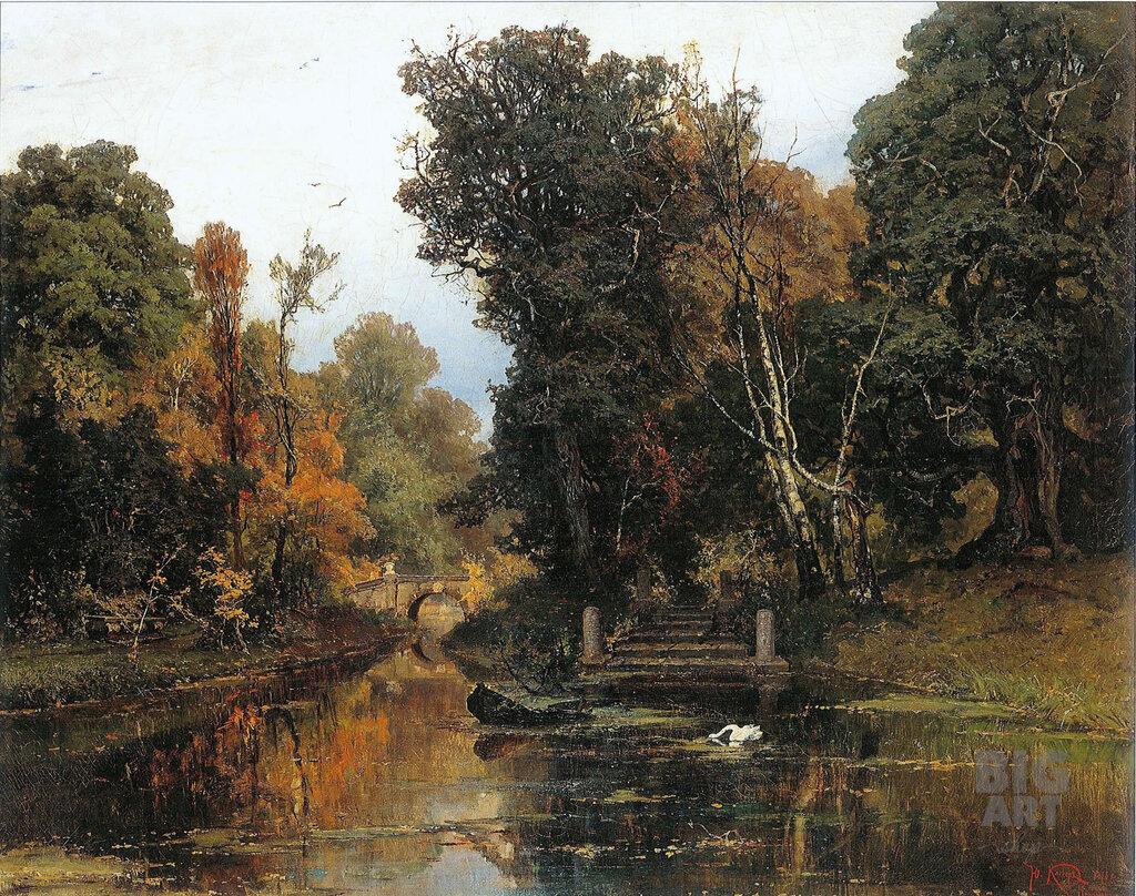 Запушенный парк в Мариенбурге --1878.jpg